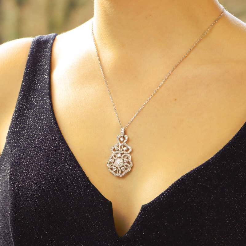 Garrard Tudor Rose Diamond Pendant