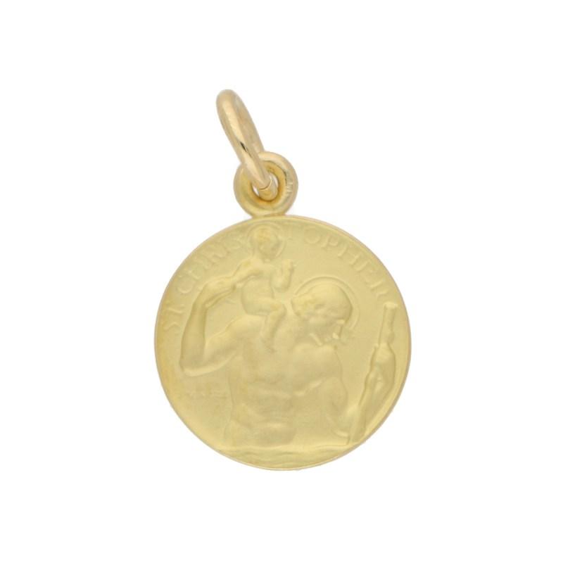 St. Christopher Pendant Charm in 9k Gold