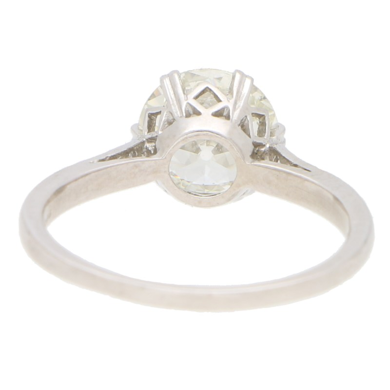 Art Deco 1.85 Old European Cut Diamond Solitaire