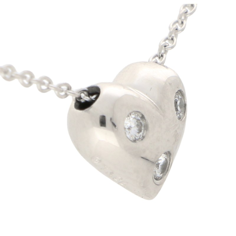 Tiffany & Co. Diamond Heart Pendant in Platinum