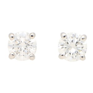 Solitaire Diamond Stud Earrings 1.20ct