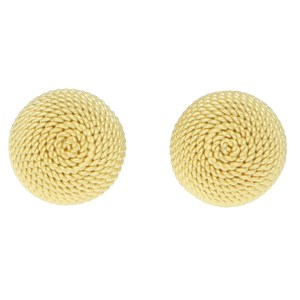 Woven Dome Stud Earrings