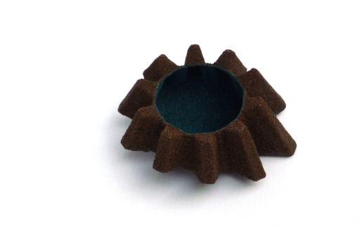 Zahnradbrosche Bronze Aqua