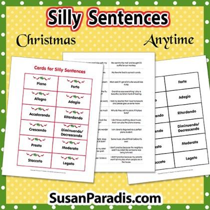 Silly Sentences Vocabulary Game