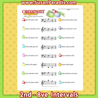 Intervals: 2nd - Octave