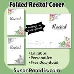 Editable Recital Program