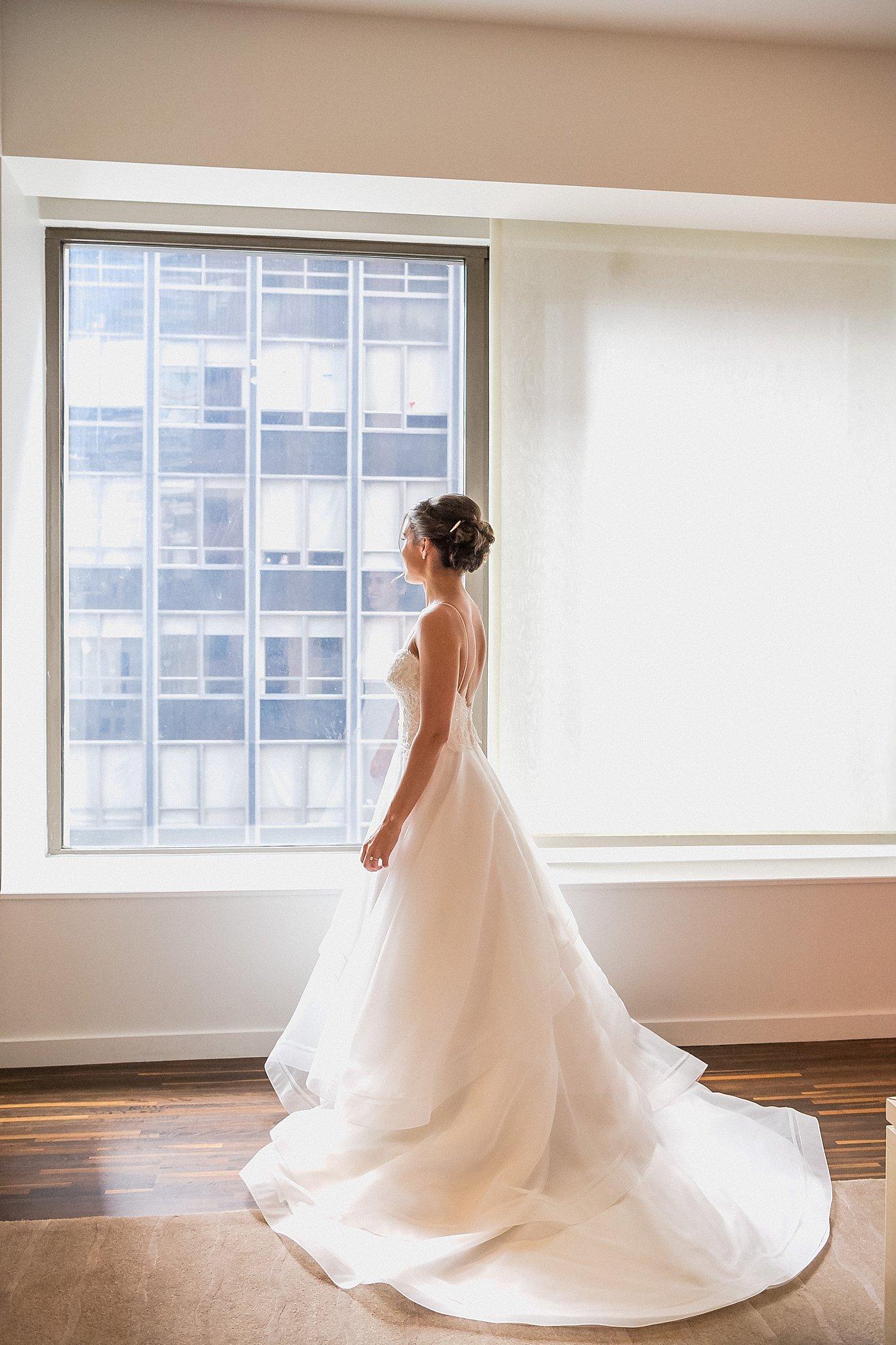 Bride Wedding Day Look on her Wedding