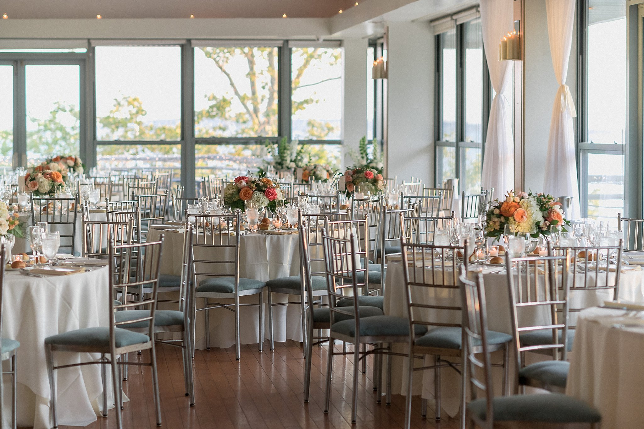 Wedding Reception at Battery Garden photographed by Susan Shek Wedding Photography in New York City, NY.