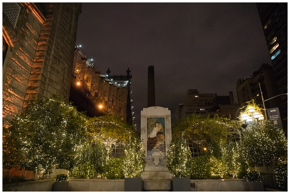 A small garden area of Guastavinos in New York City.
