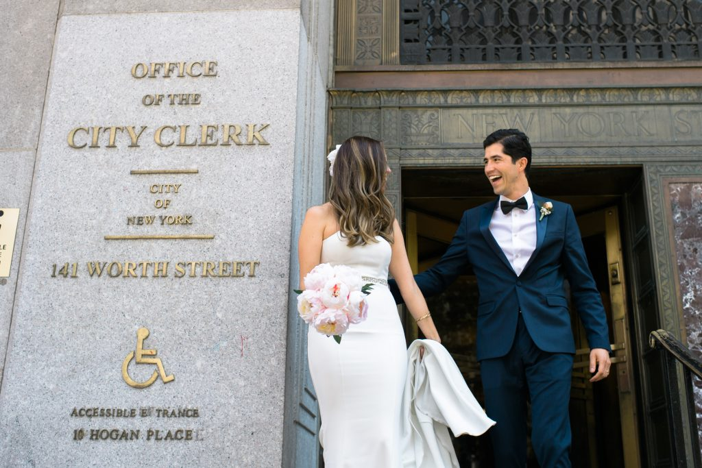 City Hall NYC Wedding Ceremony Susan Shek