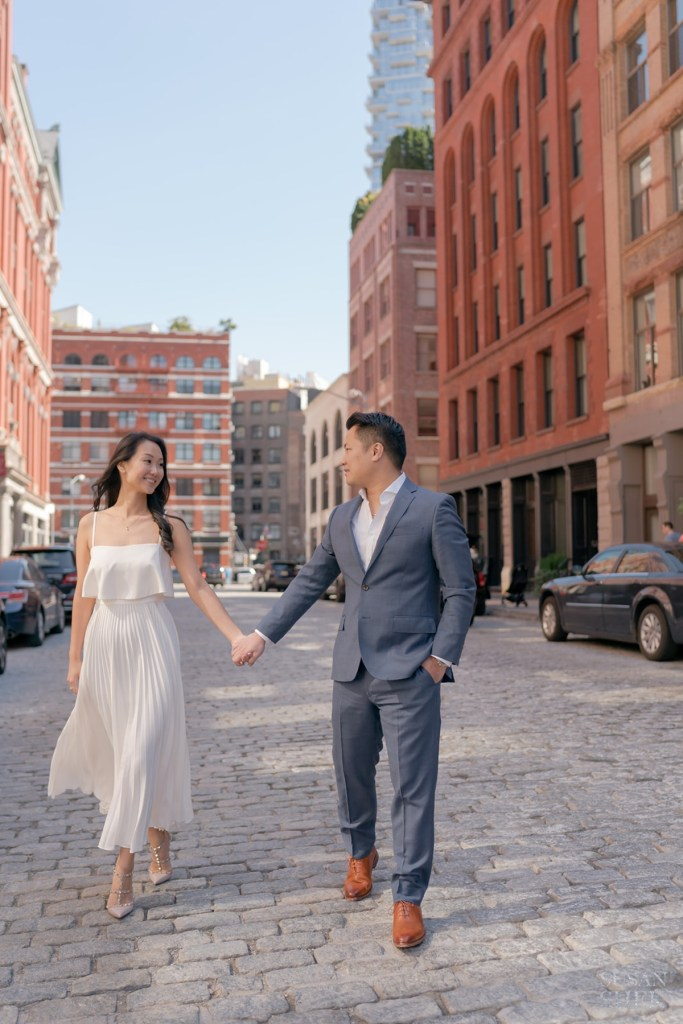 tribeca for engagement photo shoot