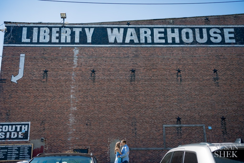 engagement shoot at the liberty warehouse in red hook brooklyn