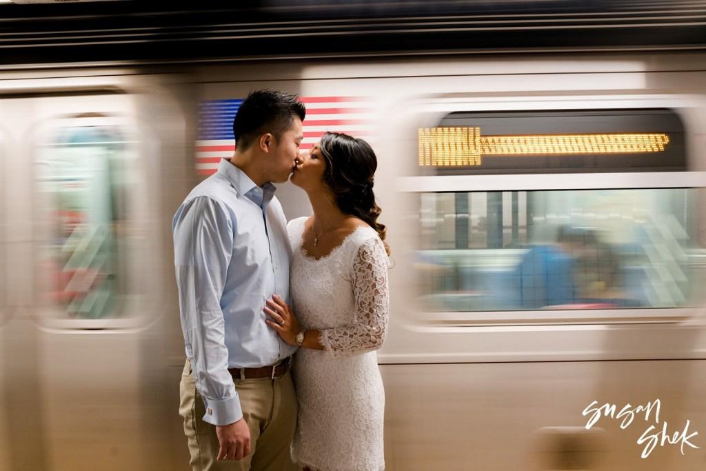 Subway Engagement Photo Session, Engagement Photos, Engagement Photography, Engagement Photographer, NYC Engagement Photographer, NYC Wedding Photographer