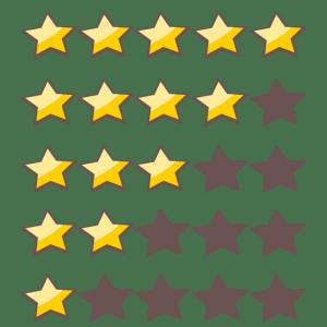 ratings stars