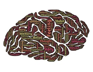brain with tag cloud public domain