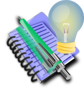 ideas light bulb note book public domain