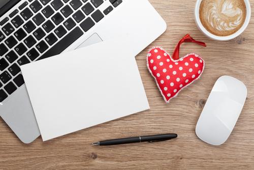 valentines day heart latte