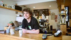 man coffee shop public domain