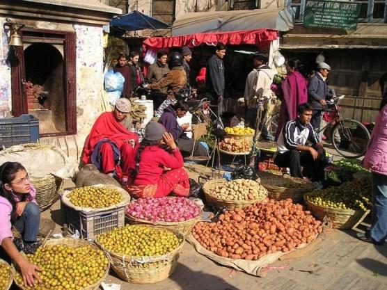 nepal street vendors public domain
