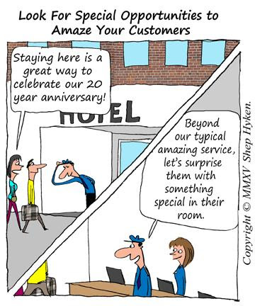 over-the-top customer service