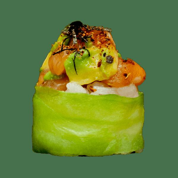 Gunkan salmón tártar
