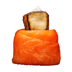 Gunkan salmón y foie gras