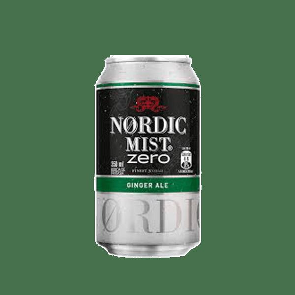 Lata de Nordic Ginger Ale Zero 350 cc