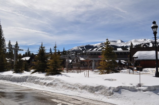 The mid-station gondola stop at Shock Hill in Breckenridge