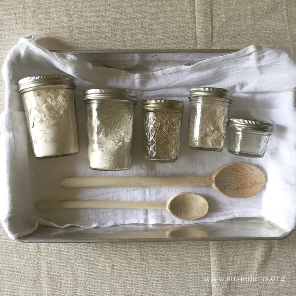 susie davis bread making mise en place
