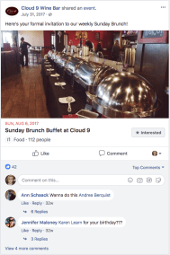 Restaurant Facebook Event
