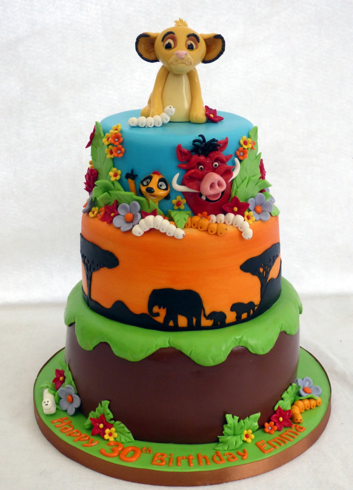 Lion King 3 Tier Birthday Cake Susie S Cakes