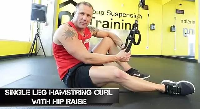 TRX Single Leg Hamstring Curls