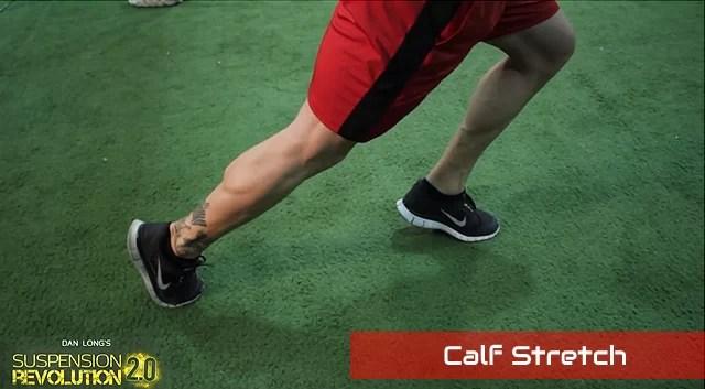 TRX calf stretch