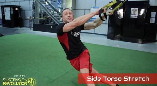 TRX side torso stretch