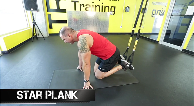 TRX ab exercises star plank