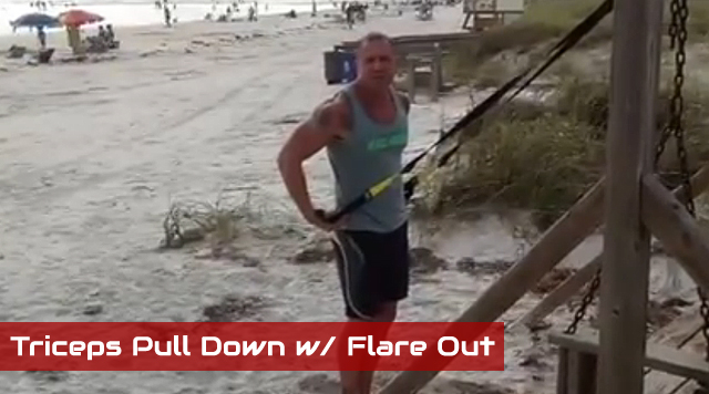 trx arm exercises Triceps Pull Down with Flare Out