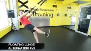 TRX leg exercises floating lunge