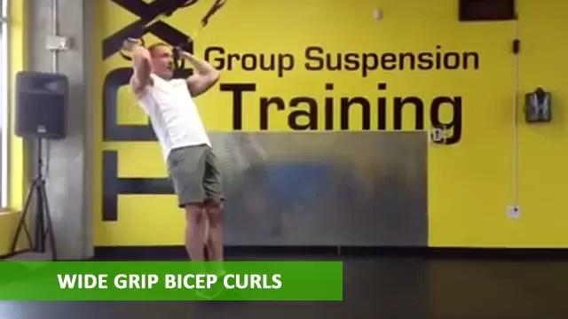 TRX Arm Exercises - Wide Grip Bicep Curls