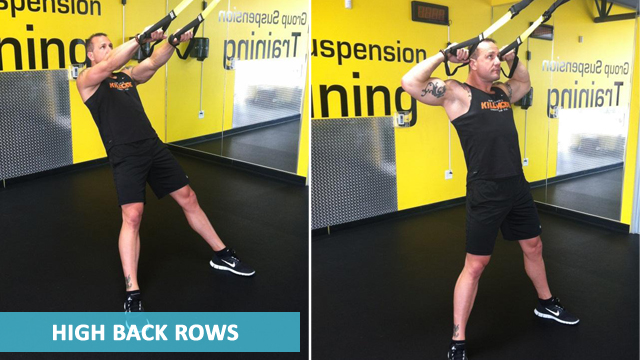 TRX Back Workouts - High Back Rows