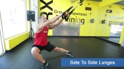 TRX leg exercises - side to side lunges