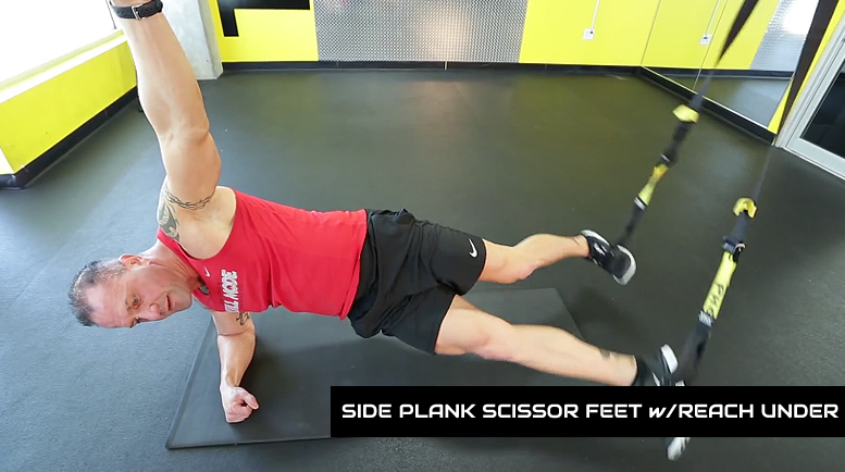 trx ab workouts side plank scissor reach under