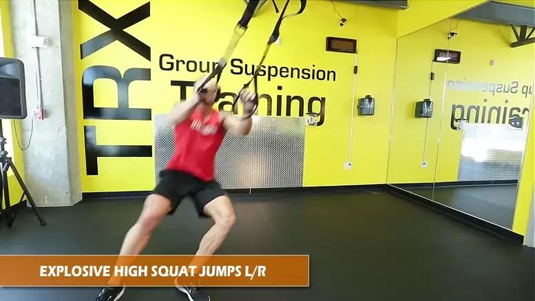 TRX explosive high squat jump