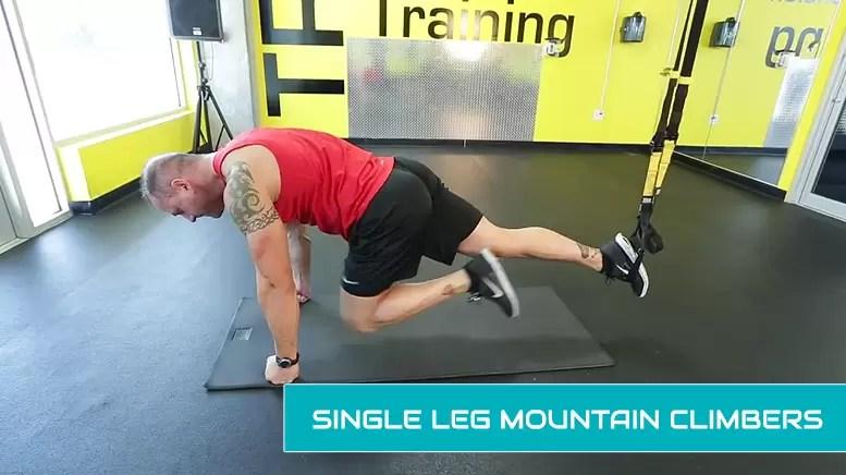 TRX leg workouts - single leg mountain climbers