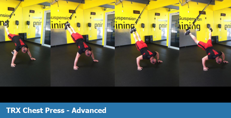 TRX chest press for advanced