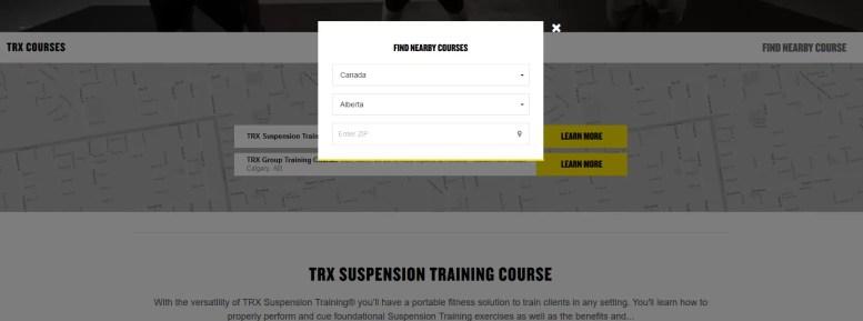 Find TRX certification near me Canada