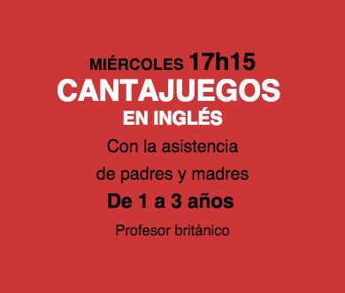 taller de Cantajuegos en inglés