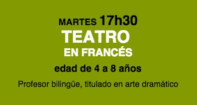 Taller de teatro en francés de 4 a 8 años