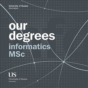 Front cover of Informatics MSc Degrees Booklet