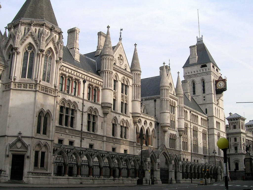 A photo of the High Court building in London