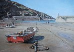 A painting of Port Isaac by Glen Smith